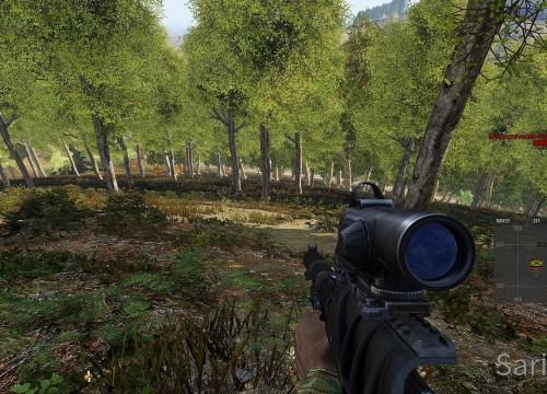 Finde die Soldaten - es sind zwei Soldaten in flora camo auf dem bild