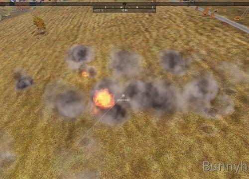 Cluster-Bombe auf die Infanterie
