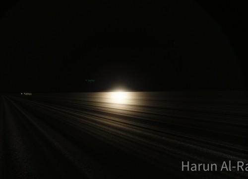 Sonne aus den Saturnringen heraus