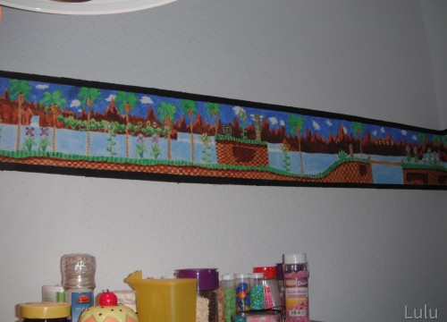 Green Hill Zone Kitchen Border