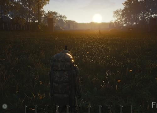 Die Schießbahn bei Sonnenaufgang