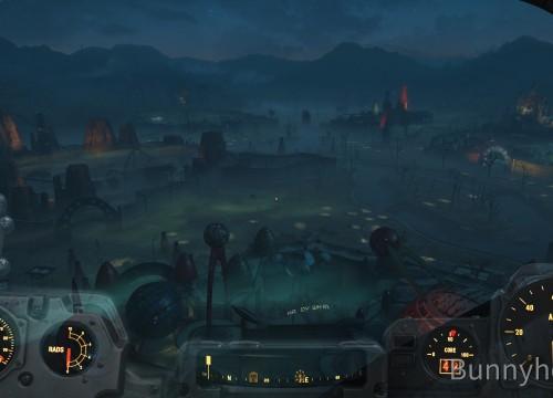 Nuka World bei Nacht