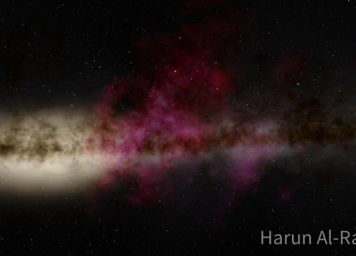 Roter Nebel in der Milchstraße