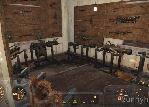 Bescheidene Waffenkammer