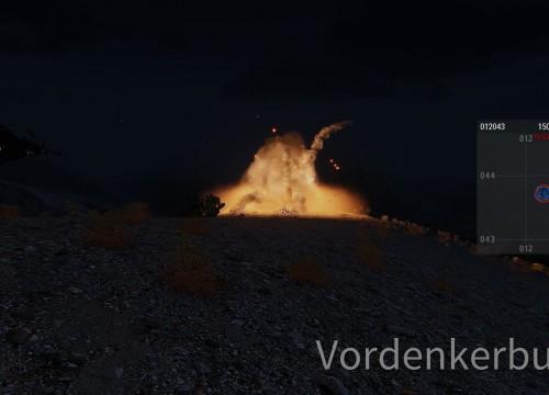 Wärmendes Feuer in der Nacht