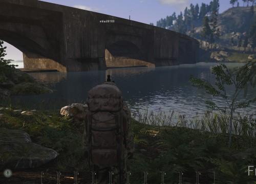 Der Damm mit Stausee