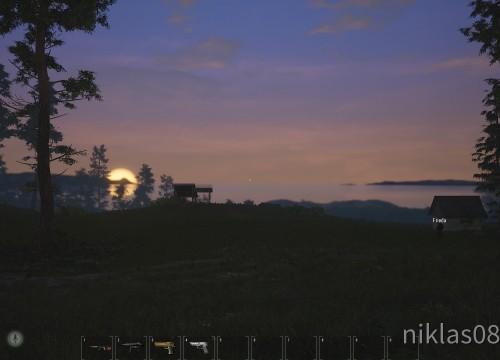 Frieda im Sonnenuntergang